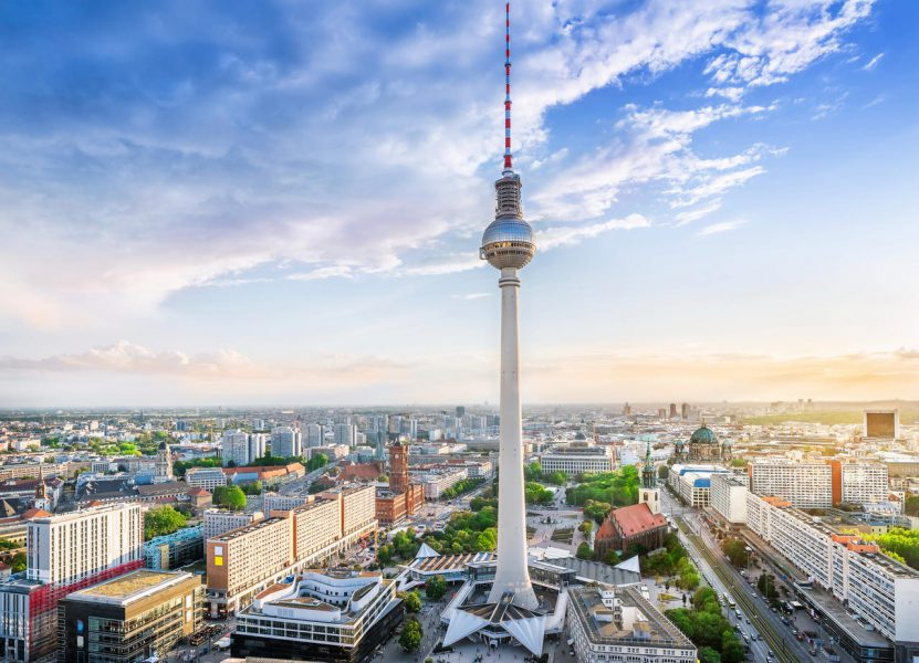 panoramic view at the berlin city center